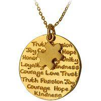 Exponentially  - Gold Plated Autism Awareness Necklace