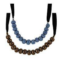 Ceramic Bead Necklace - A Unique Ceramic Beaded and Designer Jacaranda Necklace