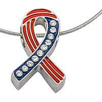 Prayer for a Soldier - Keep My Son Safe Rhinestone, Enamel & Silver-Plate Pendant