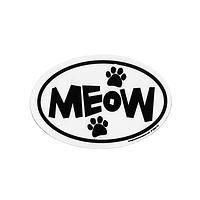 Tell it Like it Is - Meow Car Magnet with Paw Print Design