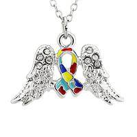 Autism Angels - Wings Of Awareness Autism Inspired Necklace