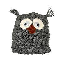Cozy Warmth - 100% Wool Hat With Whimsical Owl Design