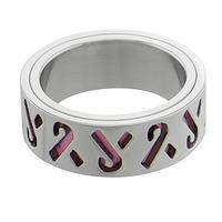 Band of Solidarity - Stainless Steel and Enamel Pink Ribbon Band Ring