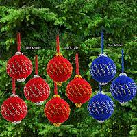Soft Globes - Colorful Crocheted Christmas Ornaments