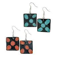 Flower Power - Handmade Ceramic Pottery Flower Earrings