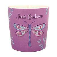 Wings of Transformation - Just Believe Stoneware Dragonfly Mug