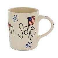 Safe and Sound - Hand Painted Ceramic Mug With Patriotic Keep My Son Safe