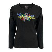 Bursting Colors of Autism  - Brightly colored support of autism in this fitted cut tee