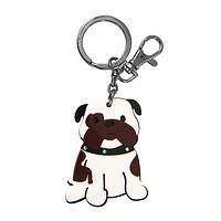 Bully for Bulldogs - Acrylic and Metal Bulldog Clasp and Ring Keychain