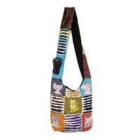 Cat's Meow Bag - 100% Cotton Patchwork Hobo Bag