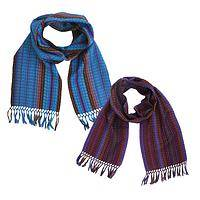 Shafts of Light - Striking Handmade Cotton Color Striped Scarf