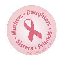 Circle of Strength - Pink Ribbon Breast Cancer Awareness Car Magnet