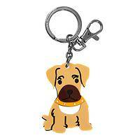 Boxer Love - Acrylic and Metal Boxer Puppy Clasp and Ring Keychain