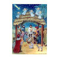 Nativity Scene Calendar - An Advent Calendar Depicting Angels And The Nativity Story