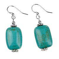 Sky Blue - Handmade Natural Turquoise Earrings with Accent Beads
