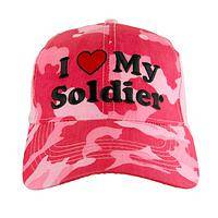 Say It Proud and Loud - I Heart My Soldier Pink Camo Baseball Hat