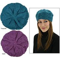 Winter in Vogue - Fashion Trend 100% Wool Hand-Knitted Beret