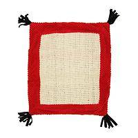 Kitty's Magic Carpet - Plush and Sisal Cat Play Mat in Tomato Red