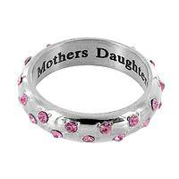 Pink Love - Steel and Rhinestone Rings for Breast Cancer Supporters