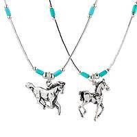 Silver Stallions - A Unique Handcrafted Sterling Silver Noble Horse Necklace