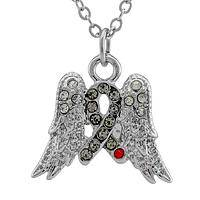 Angel Awareness - Rhinestone Diabetes Awareness Pendant Necklace