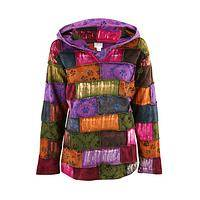 Peppy Paws - Hooded Tunic Enhanced With Paw Printed Patchwork Squares