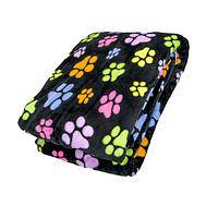 The More The Merrier - Unique Paw Print Lightweight Fleece Blanket