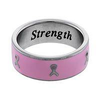 Pink Ribbon Inspiration  - Stainless Steel Ring