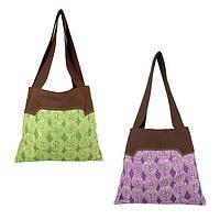 toteally totable - Handmade and dyed and embroidered to tote your belongings