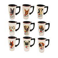 Caffeinated Companion  - 16 oz Dog Lover's Ceramic Travel Mug