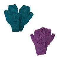 Cozy Colors - 100% Nepalese Wool Hand-Knitted Fingerless Winter Gloves