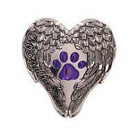 Feathered Reminder - My Angel Has Paws Paw Print Visor Clip Silver-Tone