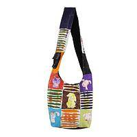 Favored Friend - 100% Cotton Hobo Bag With Dog Motif