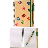 Paws For Thought - Paws Galore Recycled Wood-Free Spiral Journal With Pen