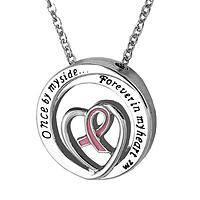Love Lives On - Forever in My Heart Breast Cancer Awareness Necklace