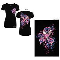 Spirit of Beauty - Faith, Love & Hope Rhinestone-Sparkled Pink Ribbon Tee