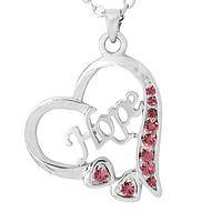 Future Forward - Hope in My Heart Sterling Metal and Crystal Necklace & Chain