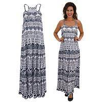 Diaphanous Days - Nepalese Cotton Women's Maxi Dress with Batik-Style Print