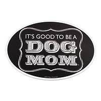 Perfectly Proud - Black and White Oval Dog Mom Car Magnet