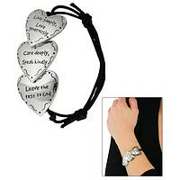 Leave The Rest To God - Hand Painted Adjustable Leave The Rest To God Heart Bracelet