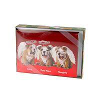 Three Little Angels - Naughty & Nice Cuddly Puppy Holiday Cards (Box of 15)