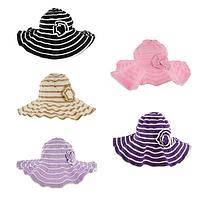 Fun In The Sun - Poly/Cotton Flower-Accented Packable Sun Hat