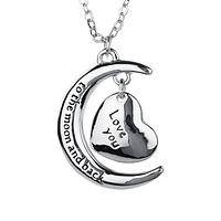 Our Love Is In The Stars - Love You To The Moon & Back Romantic Heart Pendant