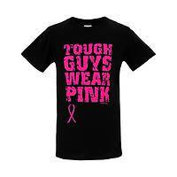 Strong and Sensitive  - 100% Cotton Tough Guys Wear Pink T-Shirt