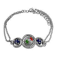 Silvery Continuum  - Spinning Beads Infinity Autism Bracelet