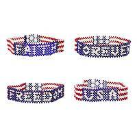 With Liberty For All - Hand-Beaded American Values Patriotic Bracelet