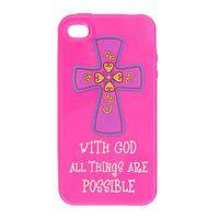 Just In Case - Brilliant Pink Expression of Faith Acrylic iPhone Cover