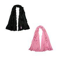 Versatile Style - Pink Ribbon Scarffie Converts For Awesome Fashion Options