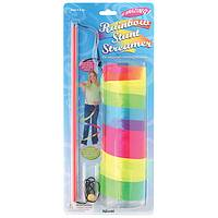 Rainbow Whirl - 7-Foot Rainbow Stunt Streamer with Cord