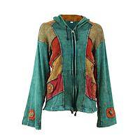Multicolored Hoodie - Handmade Sunburst Hoodie Style Jacket For Dreamers